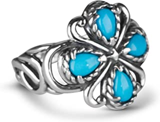 product image for Carolyn Pollack Sterling Silver Sleeping Beauty Turquoise Gemstone Rope and Scroll Bold Ring Size 5-10