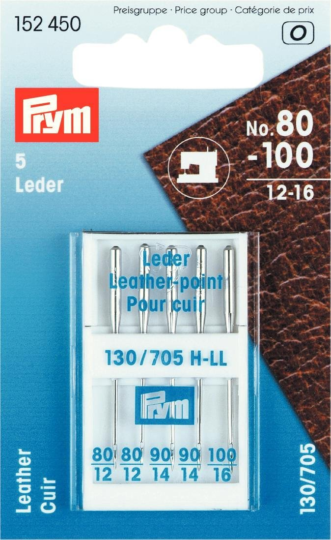 Prym Sewing Machine Needles Sys 130//705 Leather 80-100