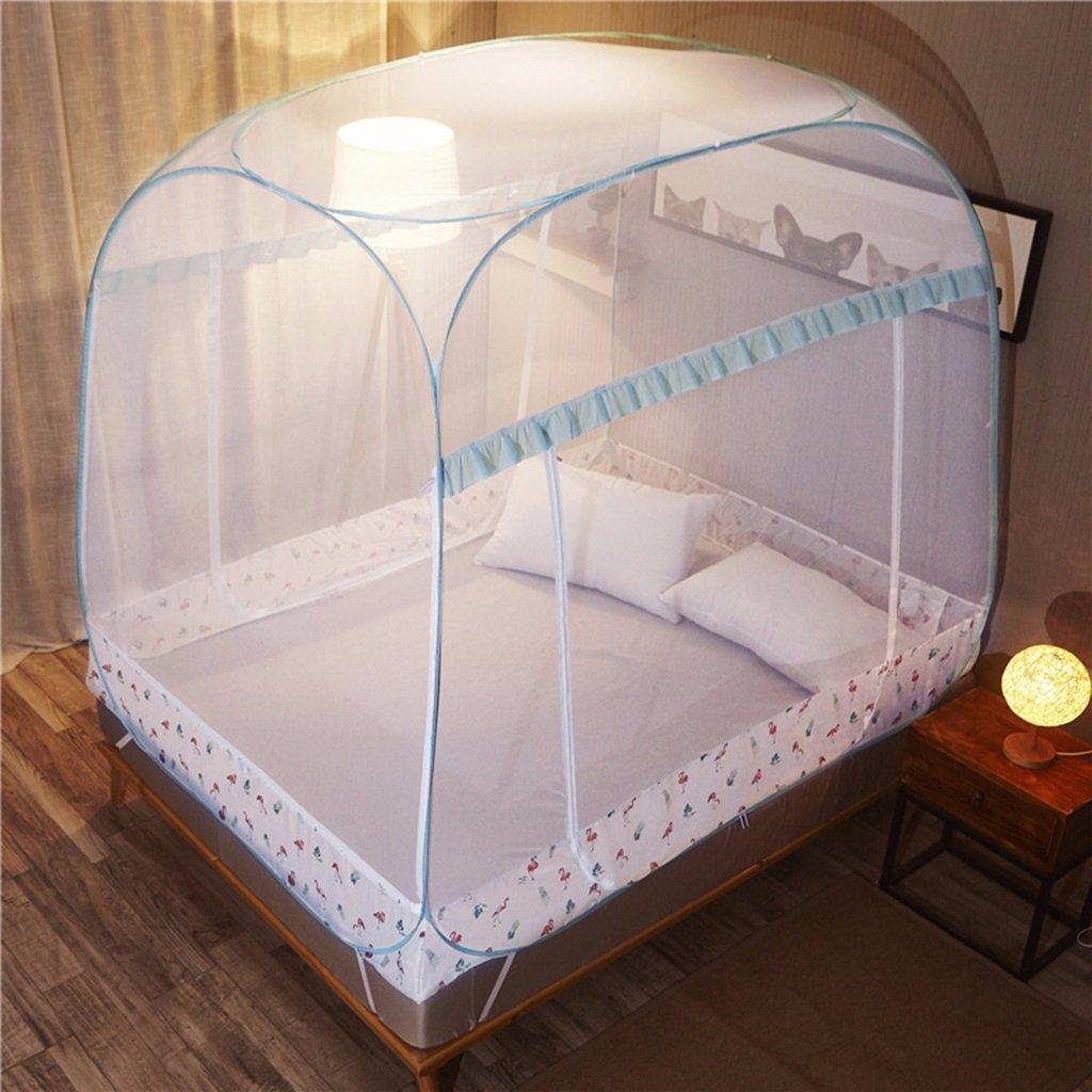 MZ Kein Zubehör muss Nicht Moskitonetze, dreitürige Verschlüsselung mesh Netto-Boden Moskitonetze 1,2 Meter Bett 1,5 Meter   1,8 Meter universal quadratische Moskitonetze installieren