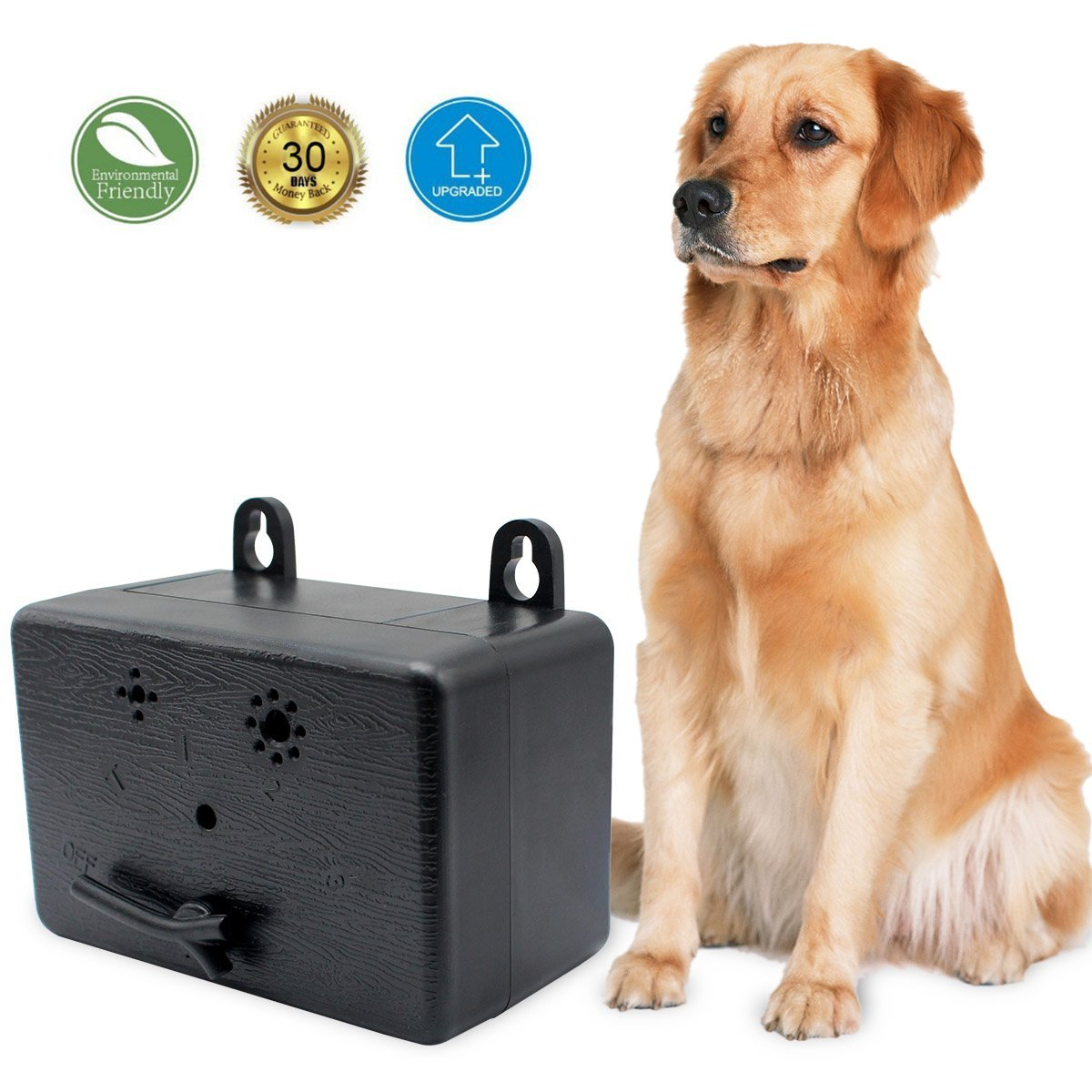 Cypropid 2018 Upgraded Ultrasonic Anti Barking Deterrents New Outdoor Training Tool, Safe for Small/Medium/Large Dogs and Other Pets/Plant/Human, Portable Size
