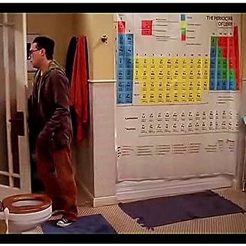 Cortina Baño Tabla Periodica | Cortina De Ducha Tabla Periodica De Big Bang Theory Amazon Es Bebe