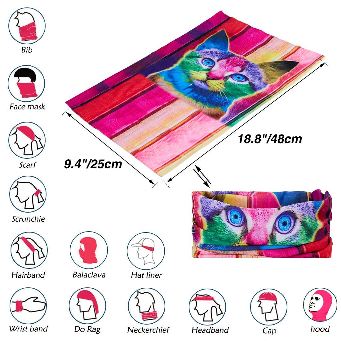 TUONROAD Alpaka Multifunktionstuch Bandana Tuch Magic Schal Elastische Stirnband Schlauchtuch Bandana Joker Schlauchtuch Baumwolle