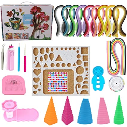 Amazon.com  Paper Quilling Kit Assorted with 60 Colors 1625 Strips ... 90fe74ca64c8
