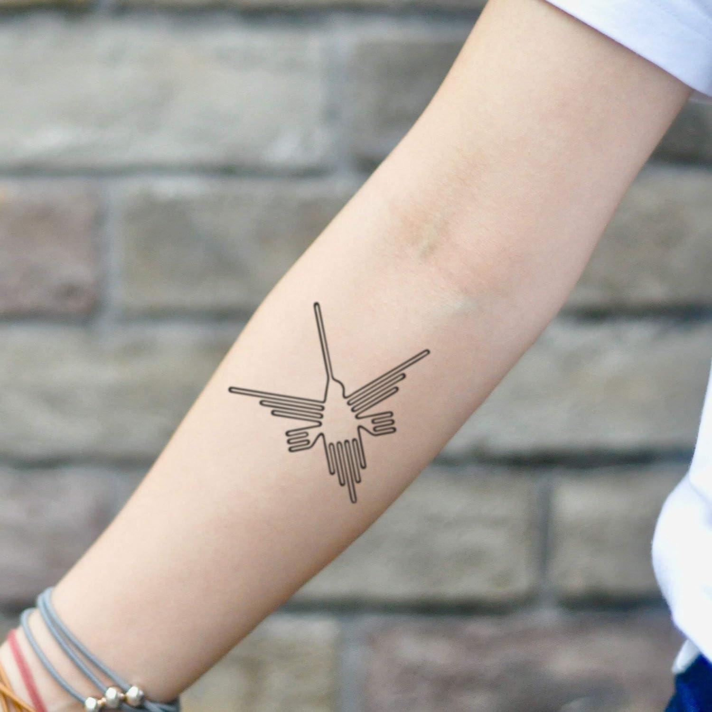 Tatuaje Temporal de líneas de Nazca (2 Piezas) - www.ohmytat.com ...