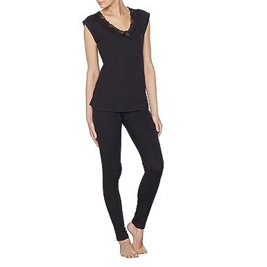 La Redoute Collections Womens Cotton Pyjamas Black Size US 4 6 - FR 34  9a71bdcc7