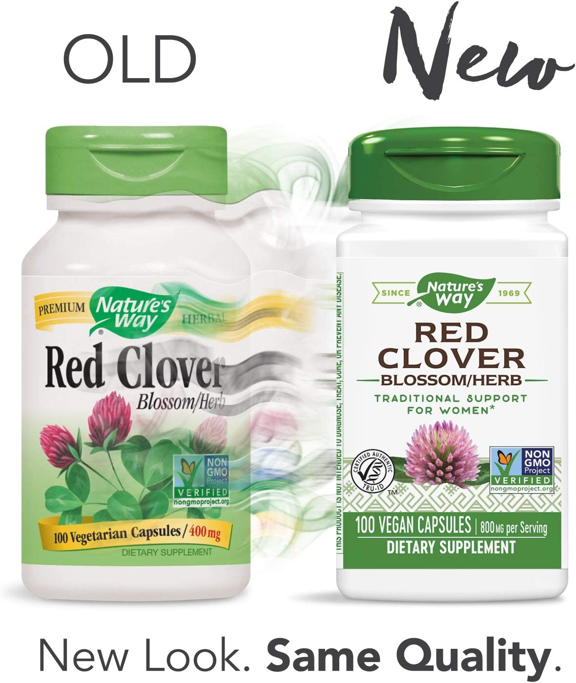 Natures Way, Red Clover, Blossom & Herb - 400mg x100caps: Amazon ...