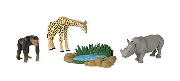 Rhinoceros Chimpanzee and Watering Hole ANIA Safari Quest Giraffe