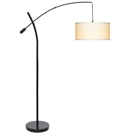 Charmant Brightech Grayson LED Arcing Floor Lamp  Tall Pole Standing Light For  Living Room Den Office