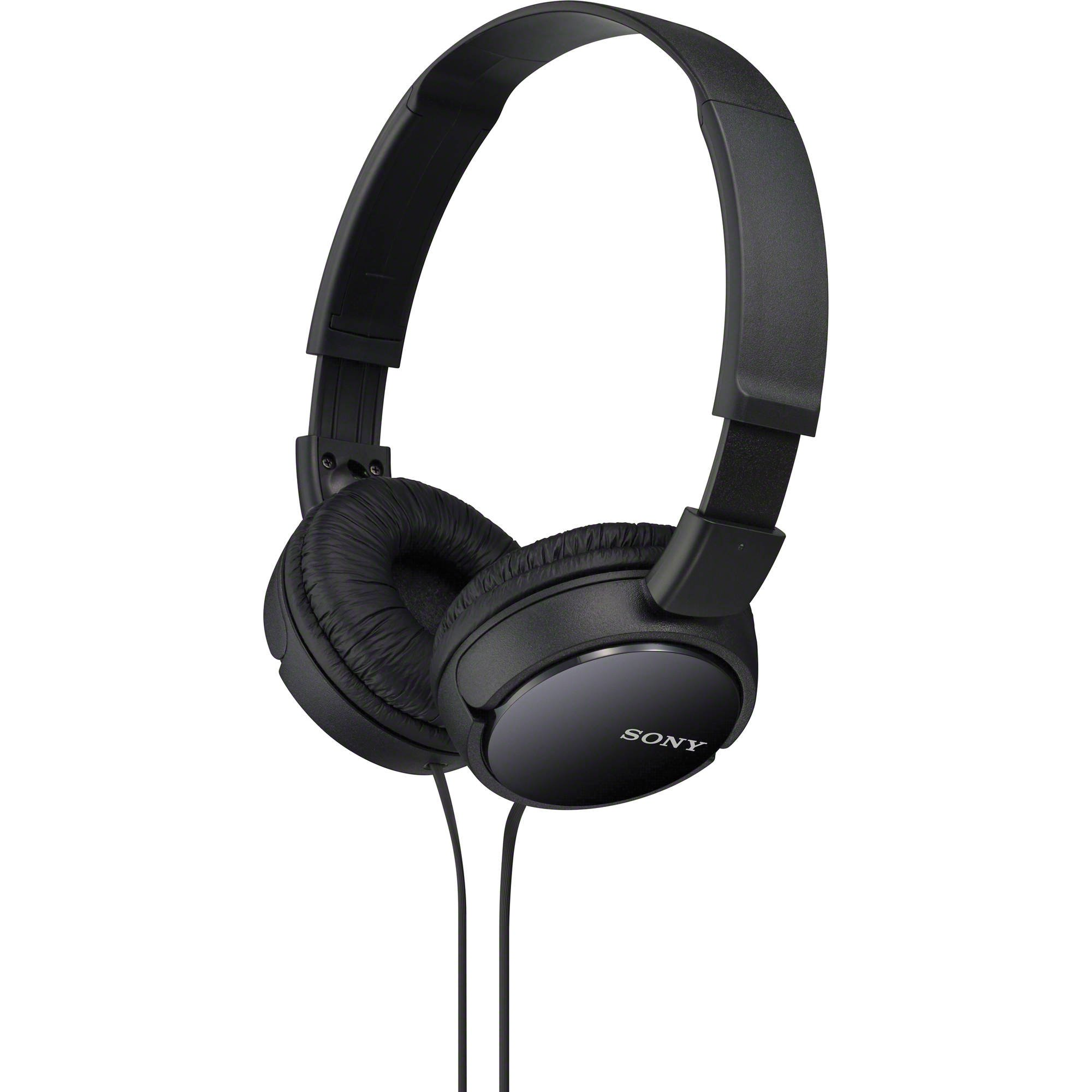 Sony Slim Lightweight Dynamic Studio Monitor Stereo Headphones with Pressure Relieving Earpads, Swivel Earcups, High Power Neodymium Magnets, 30mm Deep Bass Drivers, Multi-Layer Dome Diaphragms and a Noise-Reducing Closed Supra-Aural Design - Black - Comp