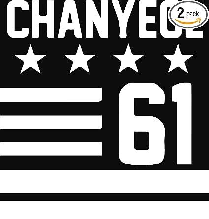 Amazoncom Hallyu Kpop Exo Chanyeol 61 White Set Of 2 Premium