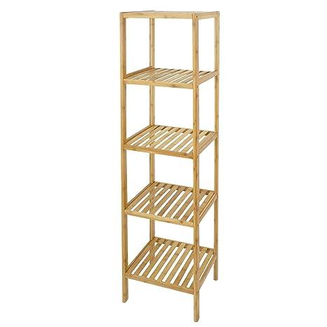 ZENY 5 Tire Storage Rack Shelving Unit Bamboo Corner Storage Shelf For  Bathroom Living Room Kitchen
