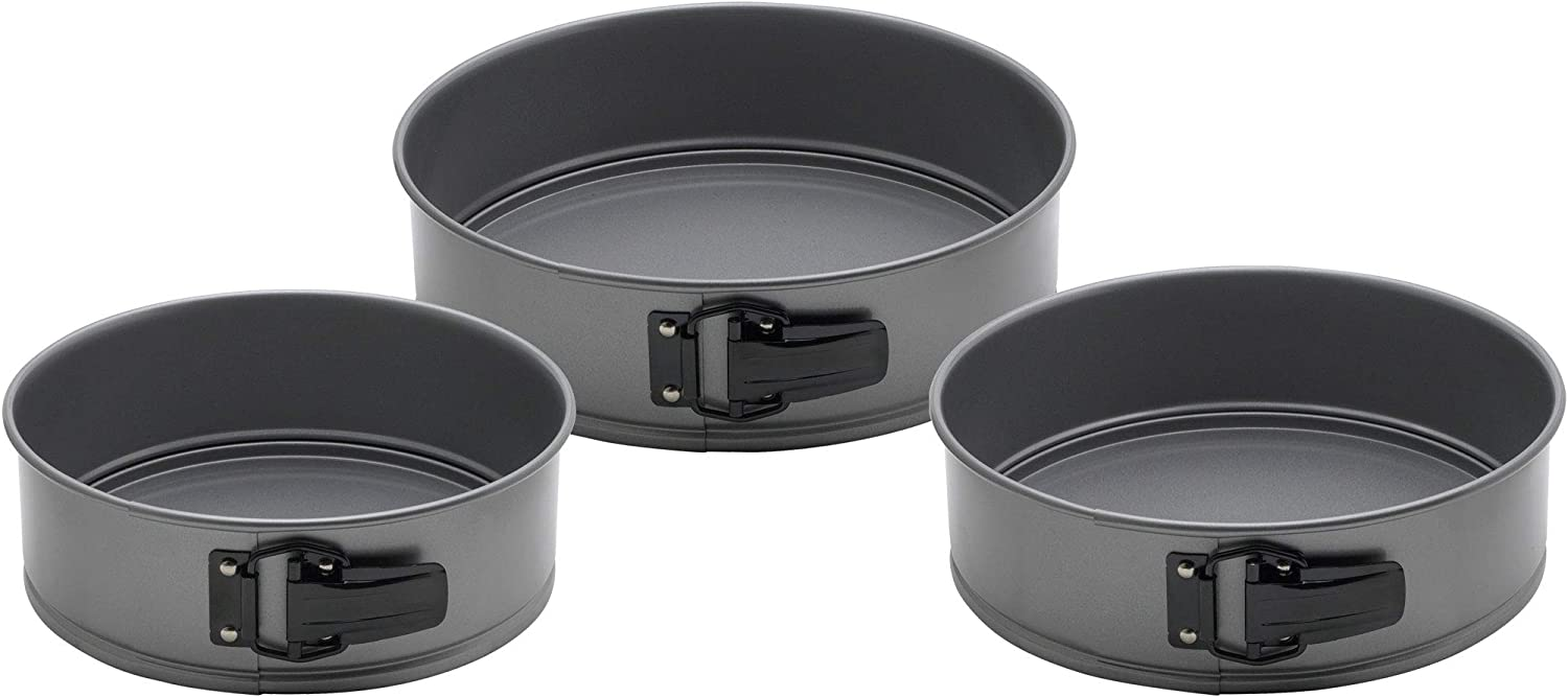 Baking Springform Pans, 3-Piece Set, Carbon Steel