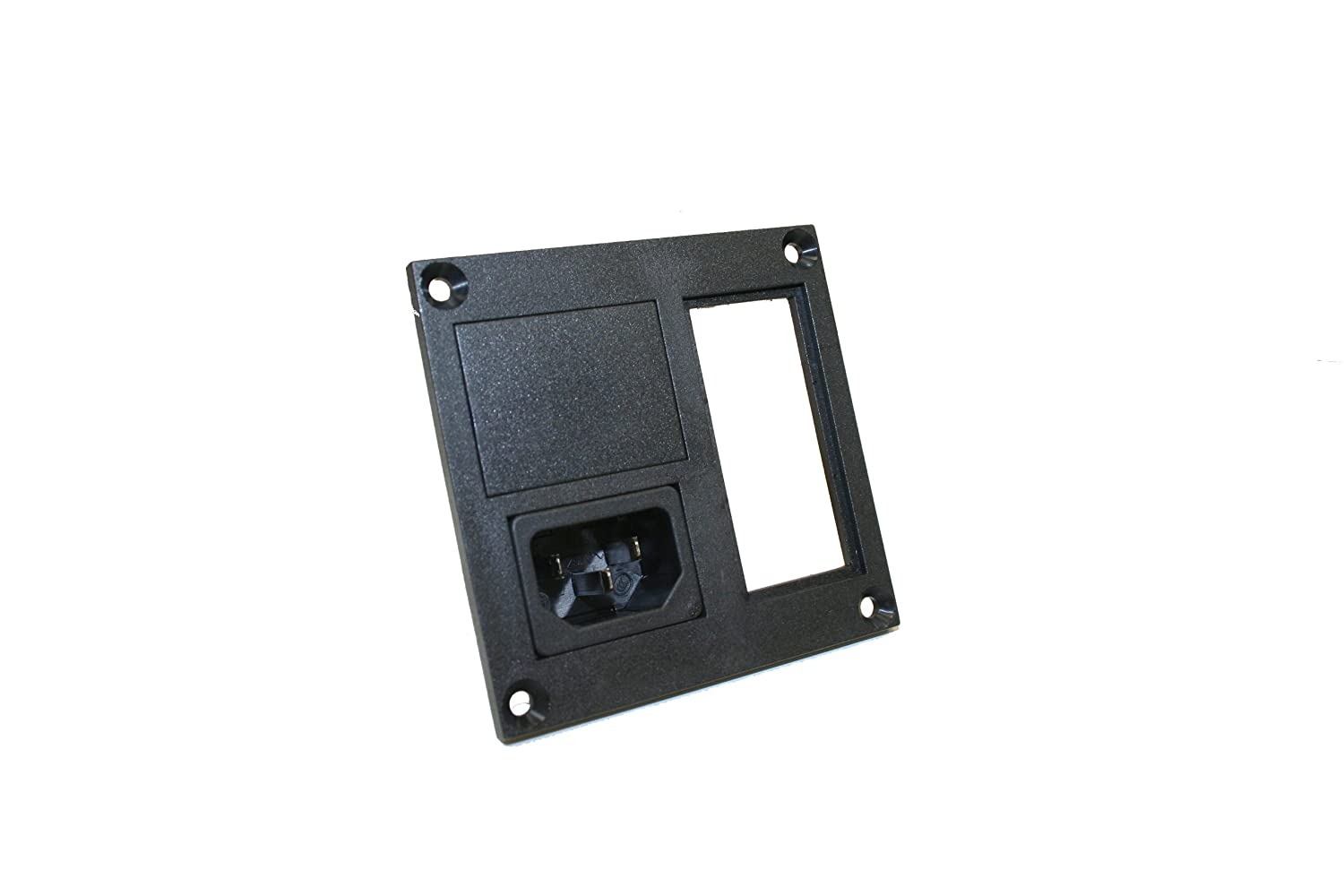 Interpower 83110160 Two Function Power Entry Module C14 Inlet 250VAC Voltage Rating 4mm Panel Thickness 10A//15A Current Rating