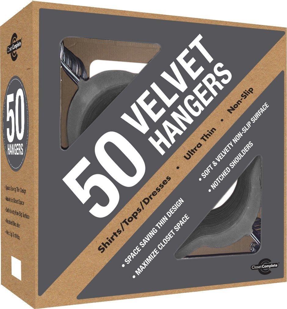 Superb Amazon.com: Closet Complete Premium Heavyweight, Velvet Shirt Hangers U2013  Ultra Thin, Space Saving, No Slip, Best For Shirts U0026 Dresses   Heather  Gray, ...