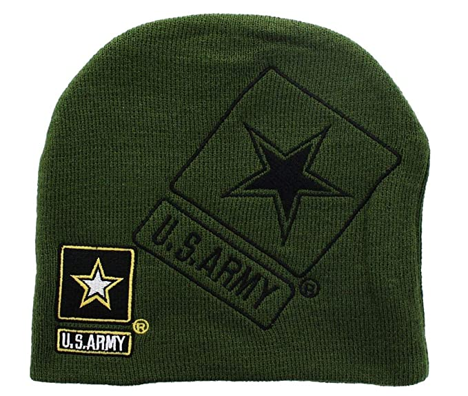 de0f6ae2a75 U.S. Army Official Licensee Green Beanie at Amazon Men s Clothing store