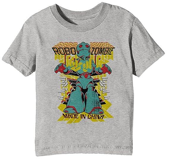 Erido Robo Zombie Niños Unisexo Niño Niña Camiseta Cuello Redondo Gris Manga Corta Todos Los Tamaños Kids Unisex Boys Girls T-Shirt Grey: Amazon.es: Ropa y ...