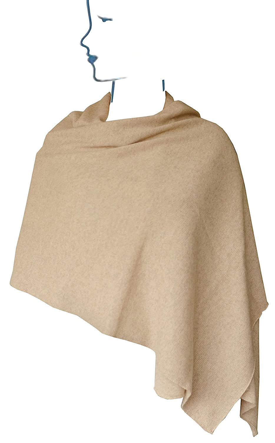 Camel Scarf Oblong Shawl, Oversized Art Wrap color Solid