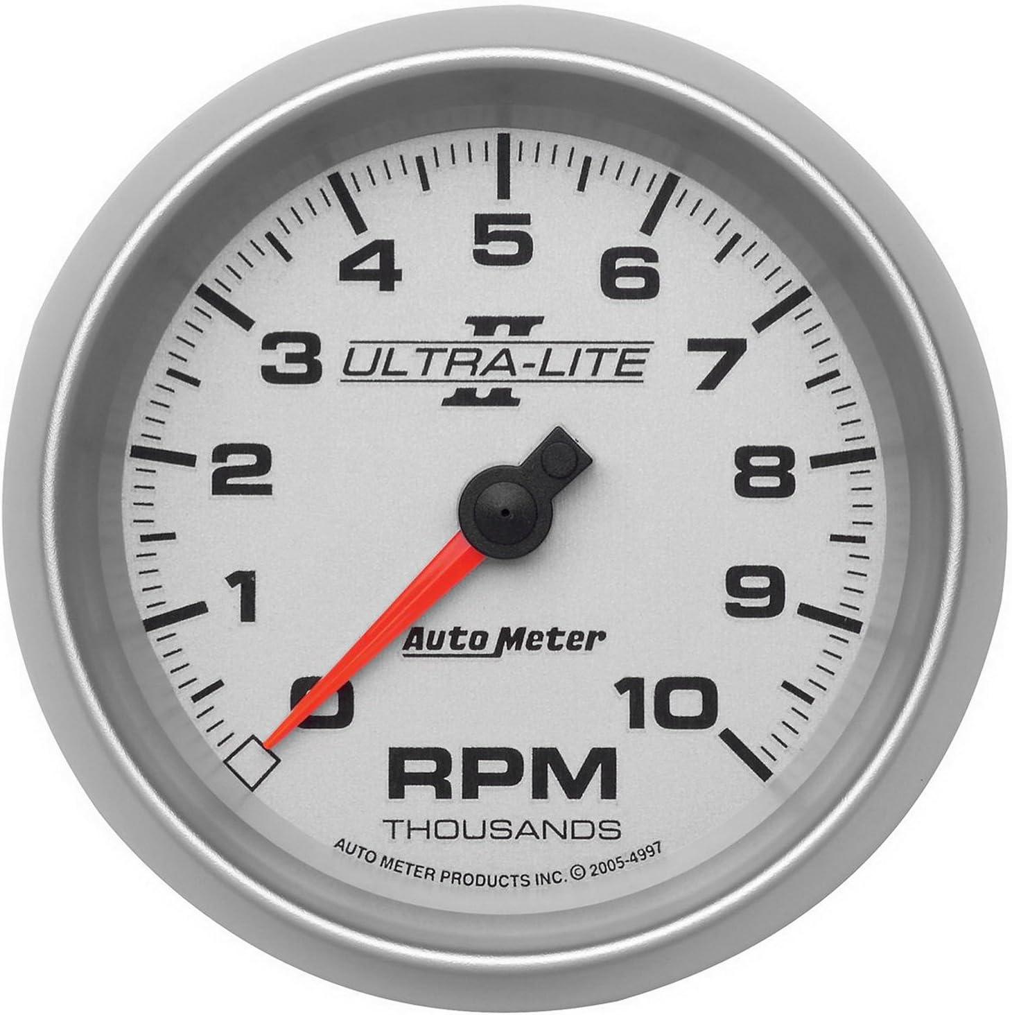 """10K RPM AUTO METER 4997 3 3//8/"""" U//L II IN-DASH TACH"""