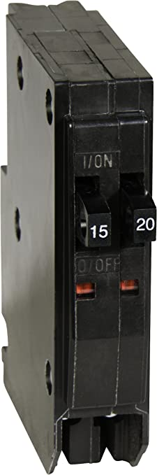 Square D by Schneider Electric QO1520 QO 1-15-Amp 1-20-Amp Single-Pole Tande...