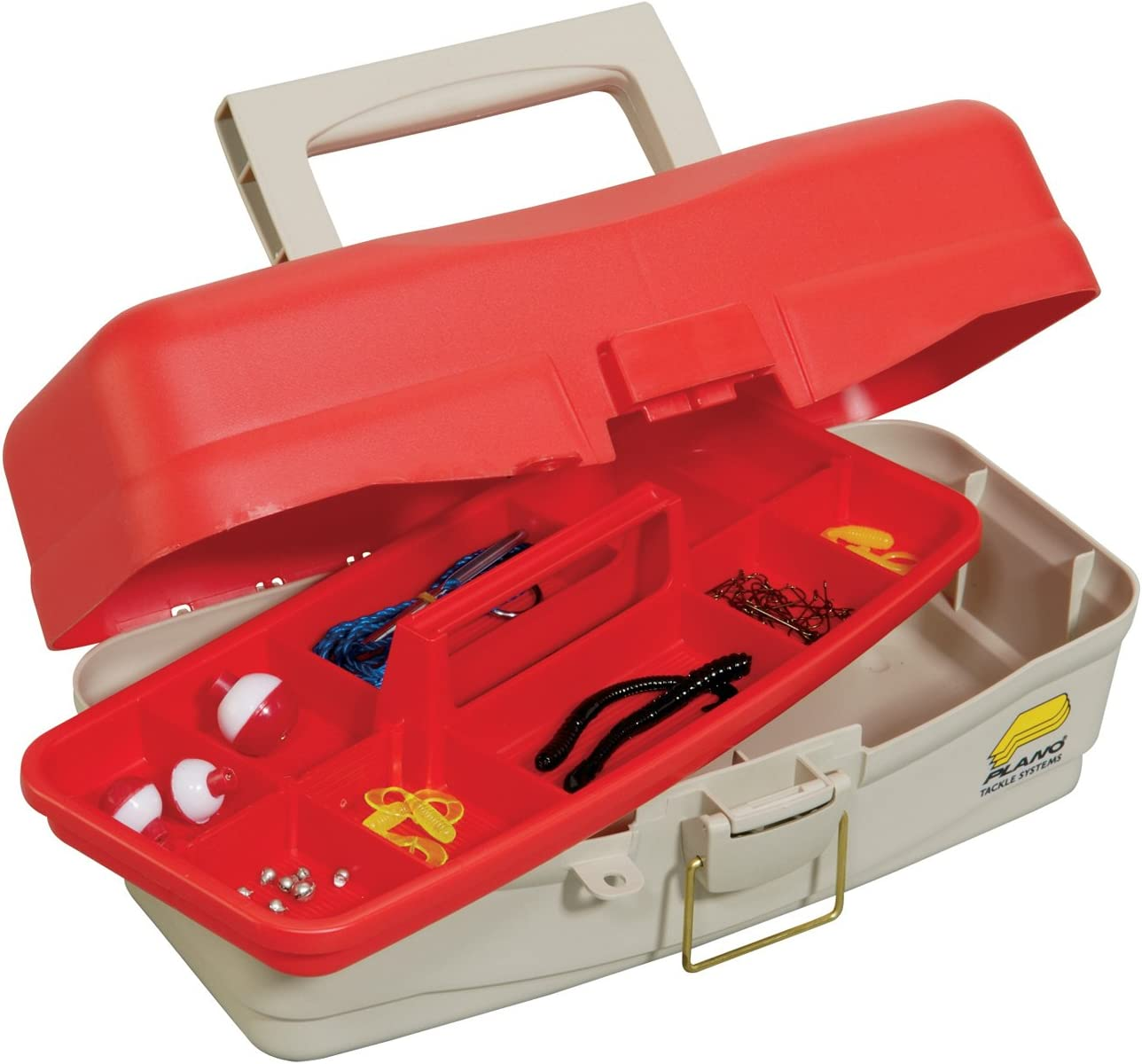 Plano Youth Tackle Box Take Me Fishing-Caja para Aparejos de Pesca, Unisex Adulto, Rojo y Beige: Amazon.es: Deportes y aire libre
