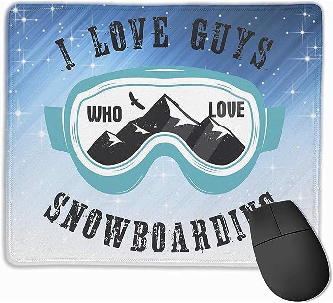 Amo a los Chicos Que aman el Snowboard Rectángulo Alfombrilla ...
