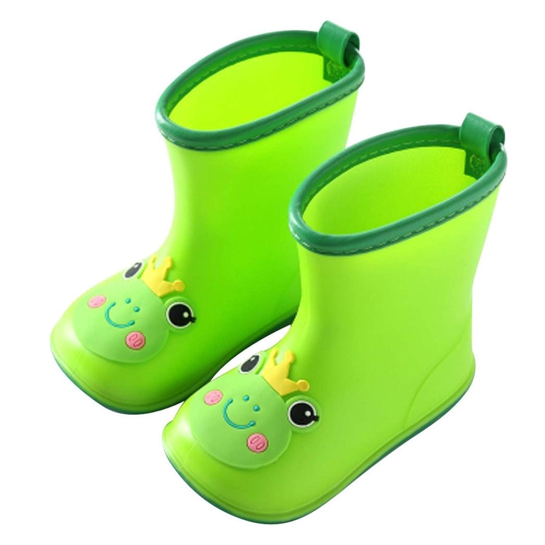 Happy Event kawaii Rain Boots–säugling infantil/bebé niña niño amarillo Caricatura Pato goma resistente al agua caliente Botas rosa Rosa Talla:14
