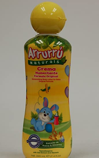 Amazon.com : Arrurru Naturals Crema Humectante Formula Original (Moisturizing Body Lotion For Baby Original Formula) 7.4 oz/ 220 ml : Baby