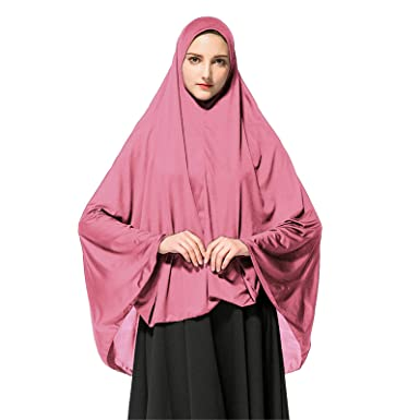 One Piece  Women Hijab Girls Scarf Muslim islamic Headscarf Khimar Prayer