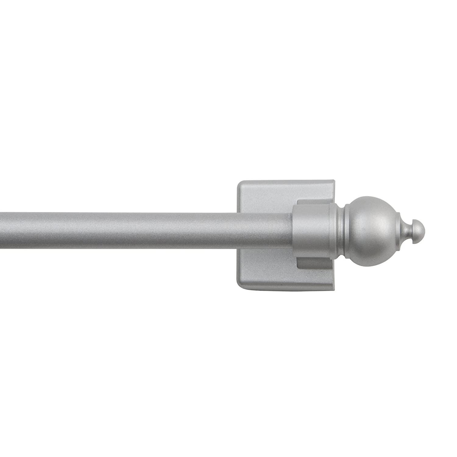 Kenney Magnetic Window Curtain Rod, 16 to 28-Inch, Silver 40343