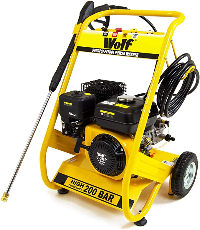 Wolf 3000psi Petrol Pressure Washer - Affordable Solution
