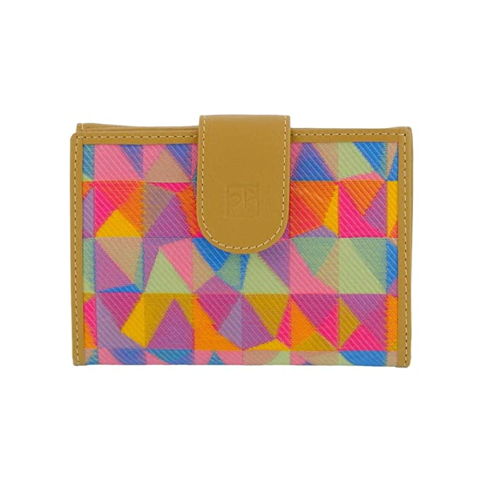 Monedero billetero tejido multicolor Talla: U Color: CAMEL ...