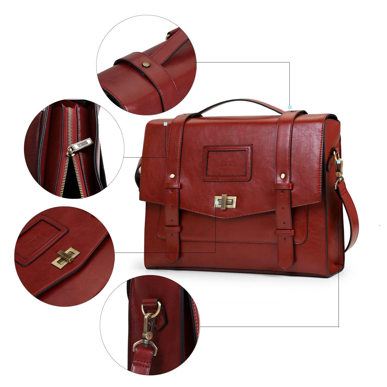511bebd7dd287 Farbe Cognac Dunkelbraun STILORD Mika Ledertasche Vintage braun Herren  Damen für Uni Büro Arbeit große Umhängetasche Aktentasche ...