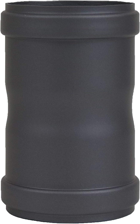 LANZZAS - Conector para tubo de pellet (diámetro: 80 mm, con dos manguitos, para conectar tubos de pellet)