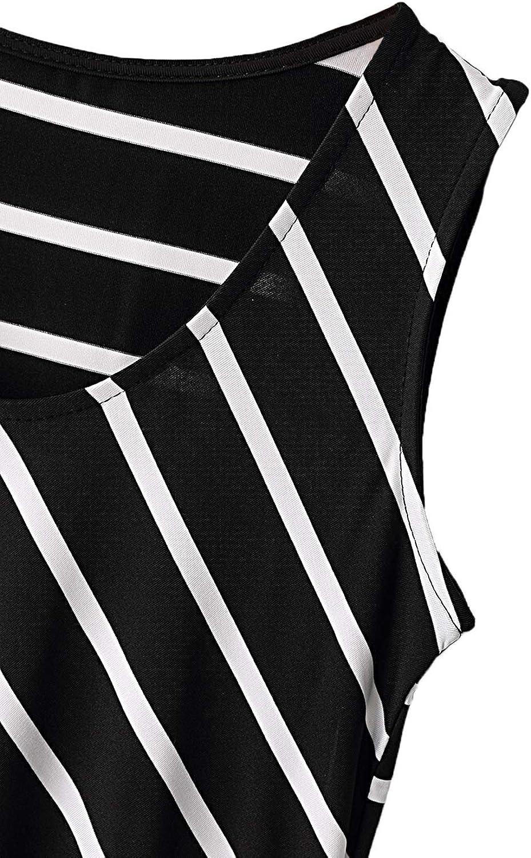 YOINS Maxikleider Damen Strandkleid Sommerkleid f/ür Damen lang /Ärmellos Strandmode mit Streifen