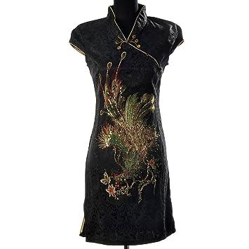 Kleid schwarz gold spitze