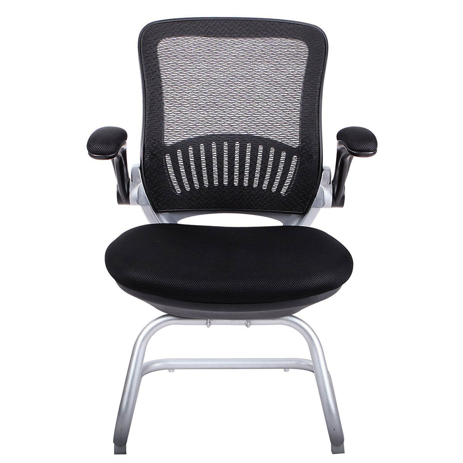 H&L Office Mesh Back Guest/Reception Chair with Adjustable Armrest