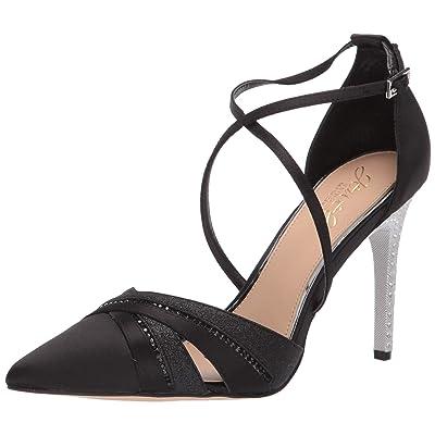 Jewel Badgley Mischka Women's DIAMOND Shoe, black satin, 7.5 M US: Shoes