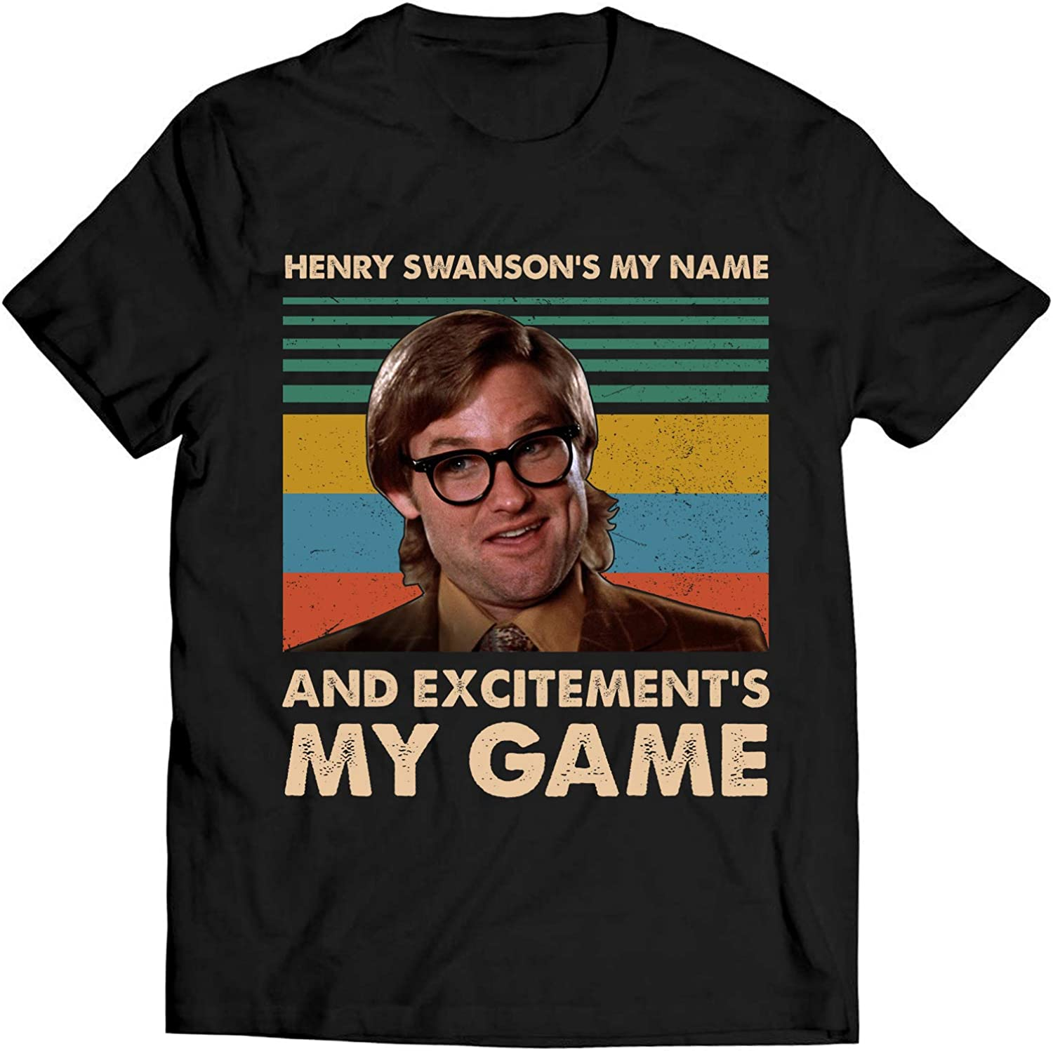 B07XY9DY82 Henry Swanson\'s My Name and Excitement\'s My Game Vintage T Shirt Big Trouble in Little China 715nTg3CMOL