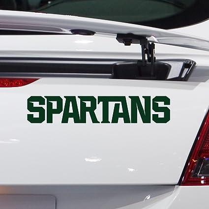 Amazon.com : Michigan State University Spartans Car Decal (Green ...