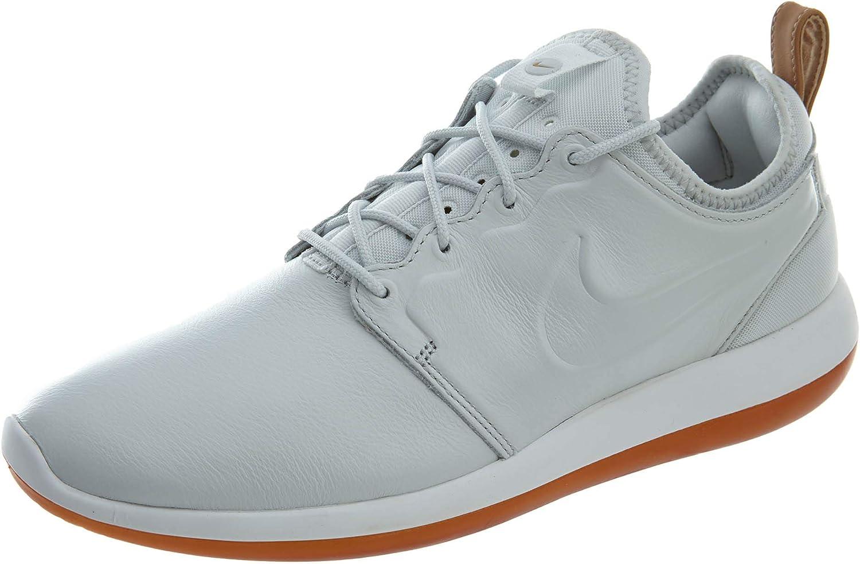 Molestar entidad Descripción  Amazon.com | Nike Mens Roshe Two Leather Premium Shoes Black/White/Gum  881987-001 Size 10 | Running
