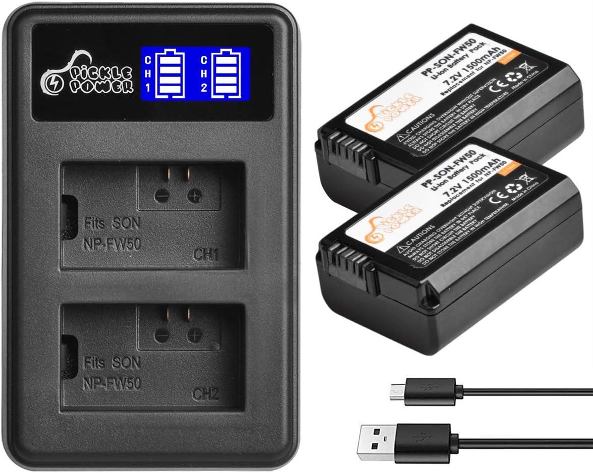 Ayex USB Charger USB Cargador para Sony np-fw50 cámara-batería