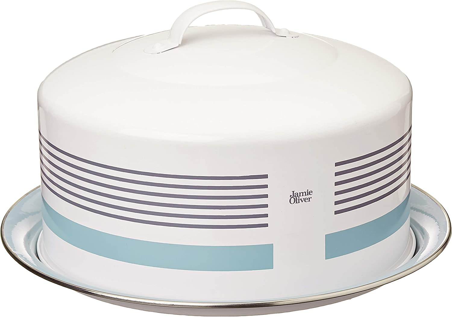 Jamie Oliver Baking Cake Tin with Cover Lid and Handle, Round, Stainless Steel
