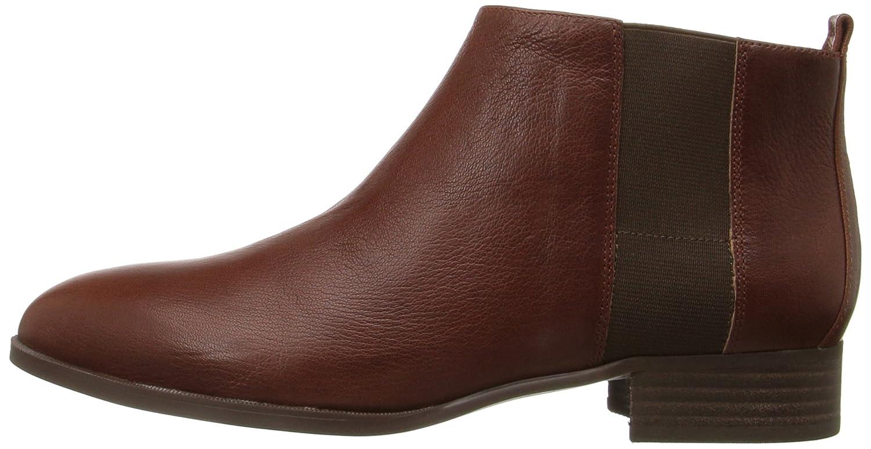 Nine West Women's Nolynn Leather Ankle Bootie B01ENO28VW 6 B(M) US|Cognac/Brown