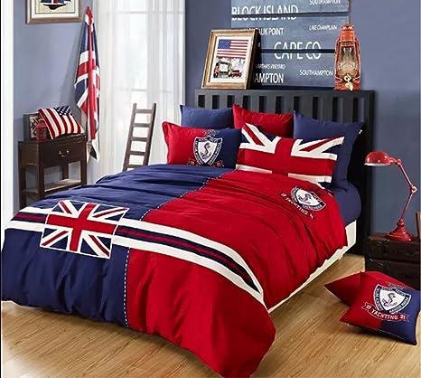 Copripiumino Matrimoniale Bandiera Inglese.King Size Bandiera Inglese I Love England D Autunno E Inverno In