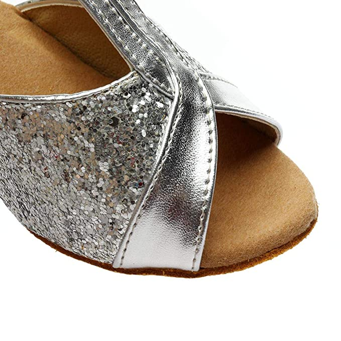 Correa Cruzada de tacón Alto Hebilla Zapatos de Baile Latino Sandalias Zapatos de Baile Color de Moda para Mujer Rumba Waltz Prom Ballroom Salsa de Baile ...