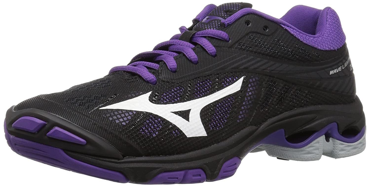 Mizuno Women's Wave Lightning Z4 Volleyball Shoe B07827L4XW Women's 7.5 B US|Black/Violet Purple