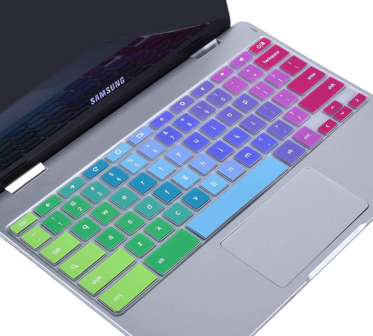 Colorful Keyboard Cover Skin for 2019/2018/2017 Samsung Chromebook 3 XE500C13 XE501C13 11.6 inch / 11.6