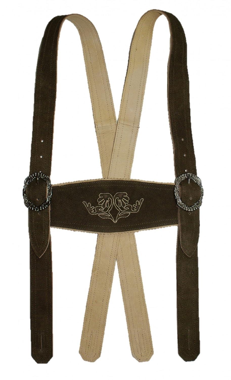 Lederhosenträger H-Träger Lederhose braun Trachten-Hosenträger Trachtenträger