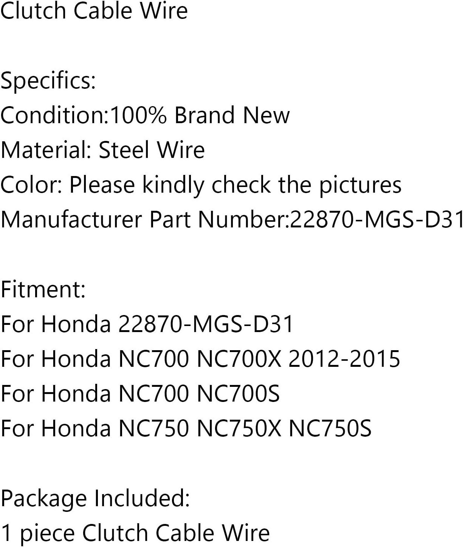 Areyourshop Cavo frizione moto 22870-MGS-D31 per H-O-N-D-A NC700 NC700X//S NC750 NC750X//S