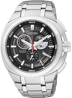 Citizen AT2021-54E - Reloj cronógrafo de cuarzo para hombre, correa de titanio